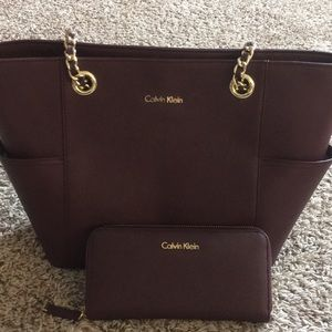 Calvin Klein Tote and Wallet Bundle